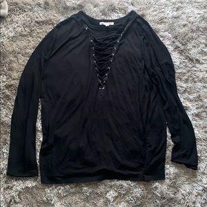 Black Tie Up Shirt